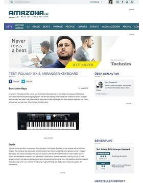 Test: Roland, BK-5, Arranger Keyboard
