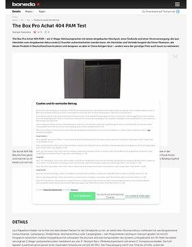 The Box Pro Achat 404 PAM