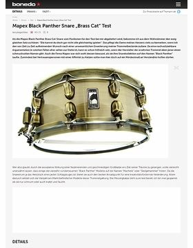 Mapex Black Panther Snare Brass Cat  5,5 x 14