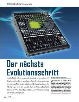Der nächste Evolutionsschritt Yamaha 01V96i