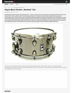 "Mapex Black Panther Snare ""Machete"""