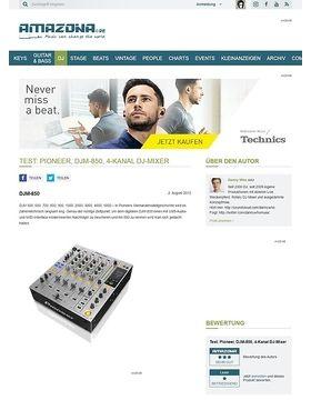 Test: Pioneer, DJM-850, 4-Kanal DJ-Mixer