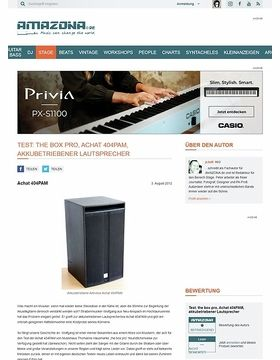 Test: the box pro, Achat 404PAM, akkubetriebener Lautsprecher