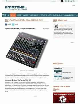 Test: Yamaha, MGP16X, Mixing Console