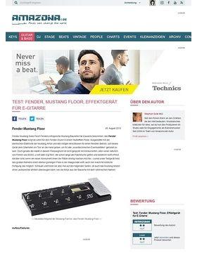 Test: Fender, Mustang Floor, Effektgerät für E-Gitarre