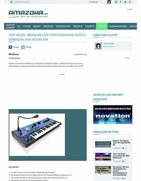 Top News: Brandneuer Performance-Synth MiniNova von Novation