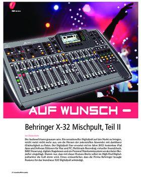 Behringer X32 Auf Wunsch - All inclusive
