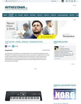 Top News: Korg, Krome, Workstation