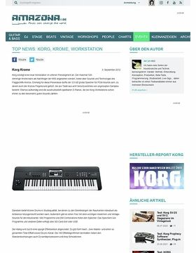 Top News: Korg, Krome, Workstation