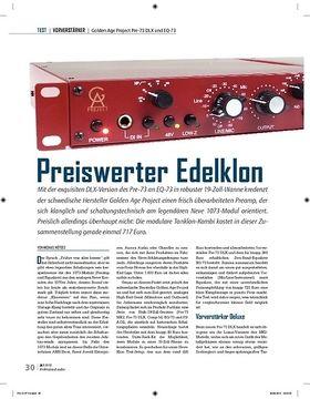 Preiswerter Edelklon: Golden Age Project Pre-73 DLX und EQ-73