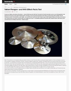 Sabian Paragon- und HHX-Effect-Packs
