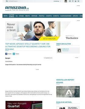 Top News: Apogee stellt Quartet vor: Die ultimative Desktop Recording Lösung für den Mac