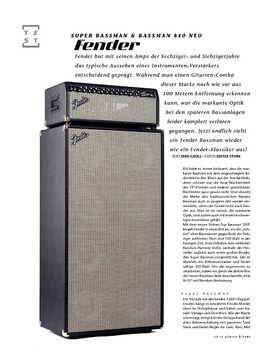 Fender Super Bassman & Bassman 810 Neo, Bass-Anlage