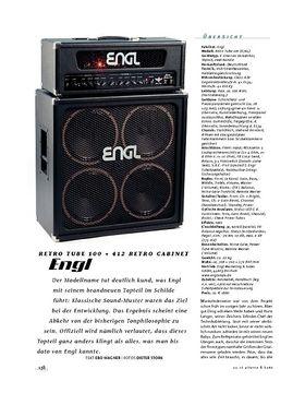 Engl Retro Tube 100 & 412 Retro Cabinet, Tube-Stack