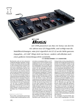 Boss GT-100, Gitarren-Floor-Multi-FX