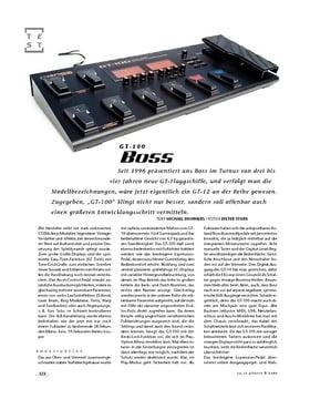 Boss GT-100, Gitarren-Floor-Multi-FX