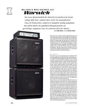 Warwick WA 600s & WCA 410/WCA 115, Bass-Anlage
