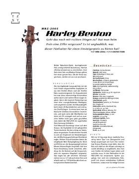 Harley Benton HBZ-2005, E-Bass