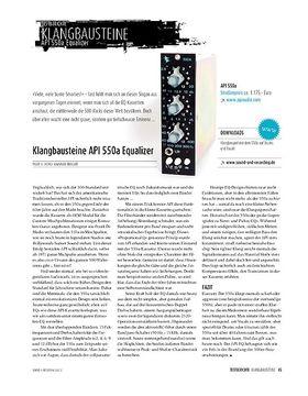 API 550a Equalizer: 500-Serie-Modul