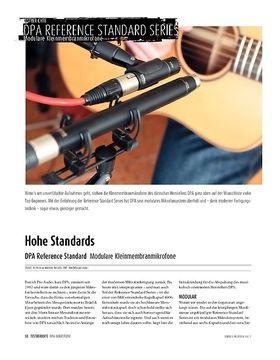 DPA Reference Standard Serie: Modulare Kleinmembran-Studiomikrofone