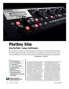 Moog Slim Phatty – Analoger Synth-Expander