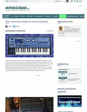 Test: Novation, Mininova, Synthesizer