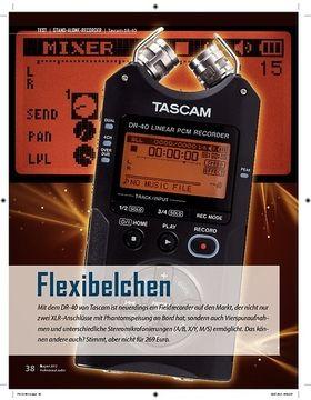Flexibelchen Tascam DR-40