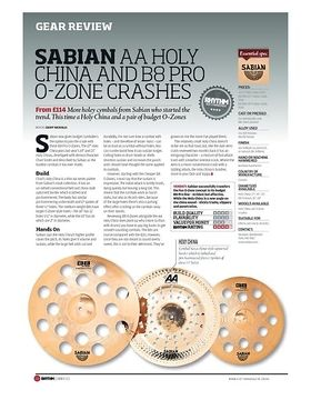 SABIAN AA HOLY CHINA AND B8 PRO O ZONE CRASHES