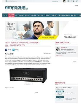 Test: Peavey, 6505 Plus, Gitarren-Vollröhrentopteil