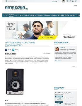 Test: EVE-Audio, SC 205, aktive Studiomonitore