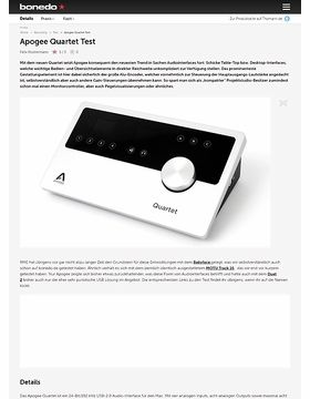 Test Preview: Apogee Quartet
