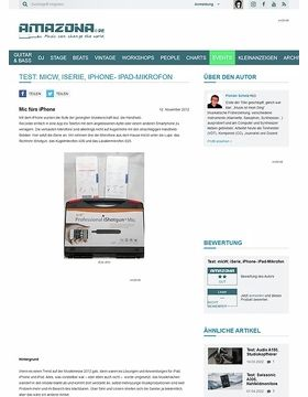Test: micW, iSerie, iPhone- iPad-Mikrofon
