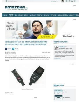 Vergleichstest: sE 4400a (Großmembran) vs. sE Voodoo VR1 (Bändchen) Mikrofone