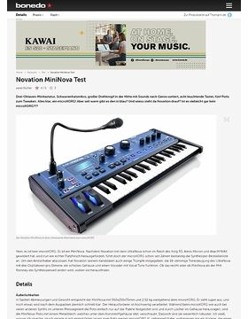 Novation MiniNova Test