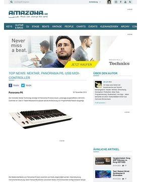Top News: Nektar, Panorama P6, USB MIDI-Controller