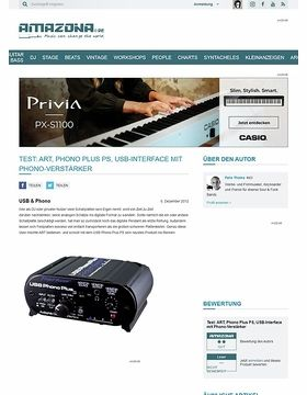 Test: ART, Phono Plus PS, USB-Interface mit Phono-Verstärker