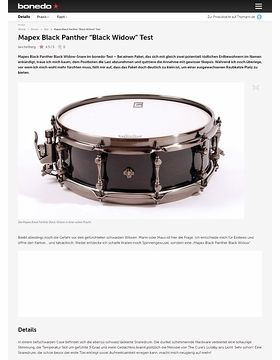 Mapex Black Panther Black Widow Test