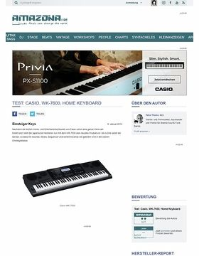 Test: Casio, WK-7600, Home Keyboard
