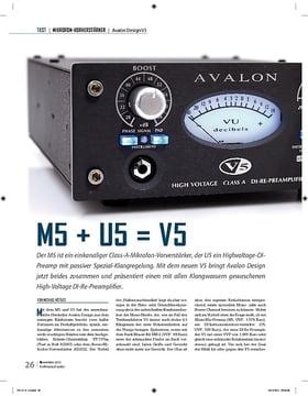 Avalon Design M5 + U5 = V5
