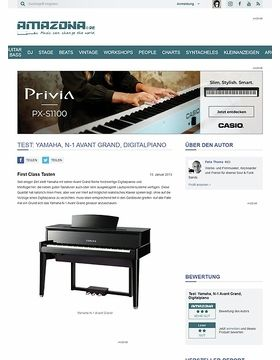 Test: Yamaha, N-1 Avant Grand, Digitalpiano