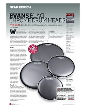 EVANS BLACK CHROME DRUM HEADS