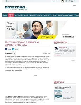 Test: TC Electronic, Flashback X4, Gitarren-Effektgerät