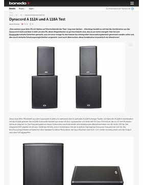 Dynacord A 112A und A 118A Test