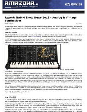 Report: NAMM Show News 2013 - Analog & Vintage Synthesizer