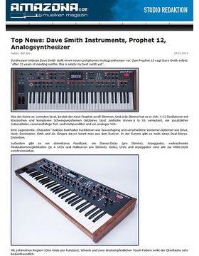 Top News: Dave Smith Instruments, Prophet 12, Analogsynthesizer