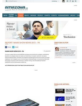 Report: NAMM Show News 2013 - PA