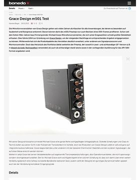 Grace Design m501 Test