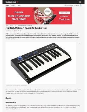 Miditech Midistart music 25 Bundle Test