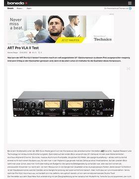 ART Pro VLA II Test