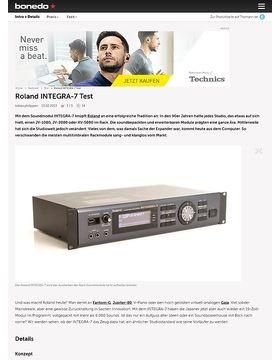 Roland INTEGRA-7 Test
